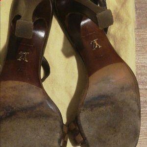 Louis vuitton damier mules heels
